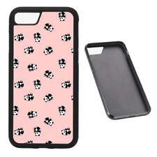 Pink Panda Pattern RUBBER phone case Fits iPhone