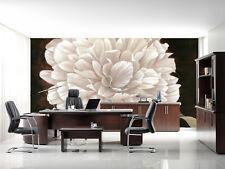 Papel Pintado Mural De Vellón Flores Blanco Redonda 22 Paisaje Fondo De Pantalla