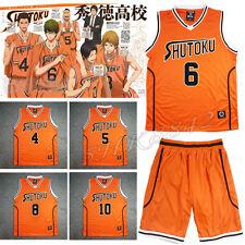 Cosplay Anime Kuroko no Basuke Shutoku No.6 Midorima Basketball Jersey Uniform