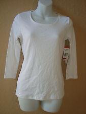 New Jones New York Signature Petite White Shirt Blouse PP