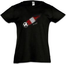 Peru Football Comet I Kids Girls T-Shirt peruvian Soccer Flag World Championship