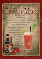 Rétro Plaque Métal: Bloody Mary Cocktail Signe/AD
