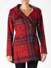 Quiksilver Women Cascade Plaid Peacoat Sweater Coats Jackets Retail: 130.00