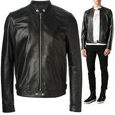 Giacca Giubbotto in Pelle Uomo Men Leather Jacket Veste Blouson Homme Cuir R2b