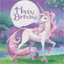unicornio Fantasía Feliz Cumpleaños Servilletas de Papel Fiesta Tela Mágico