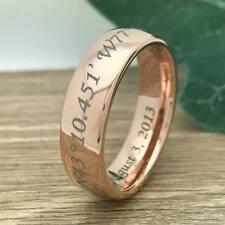 7mm Tungsten Ring,Custom Engraved Wedding Band, Unisex Ring -Free Engraving