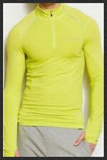 Armani Exchange Tee Shirt Long Sleeves Sports Active Muscle T Shirt Neon Green