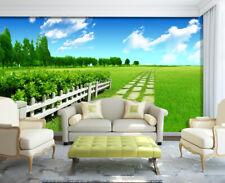3D Prairie Vert 802 Photo Papier Peint en Autocollant Murale Plafond Chambre Art