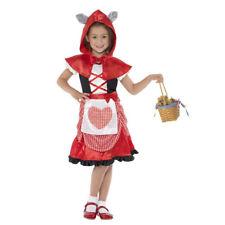 Kinder Rotkäppchen Kostüm Mädchen Märchen Kleid Verkleidung Rotkäppchenkostüm