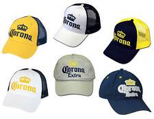 Corona Extra Baseball Cap Hat Adjustable Beer Corona Trucker Mesh Crown Various