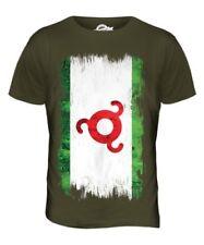Inguschetien Grunge Flagge Herren T-Shirt Oberteil