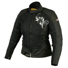 Sommer Damen Motorrad Jacke Motorradjacke Textil Schwarz Pink XS bis 2XL