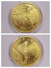 """UNIONE EUROPEA Moneta 10 argento """"Adolf Erik Nordenskioeld"""" placcato oro 2007"""