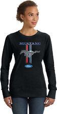 Buy Cool Shirts Ladies Ford Mustang Sweatshirt Stripe Sweat Shirt