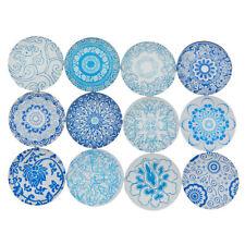 20pcs Blue and White China Flatback Cabochon DIY Scrapbooking Decor Ornament