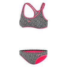 NEW Speedo Monogram Crossback Crop Set / Bikini 42Y95/6075 - Girls Swimwear