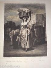 Cries of London c1880 Strawberry Seller Hildesheimer Antiquarian Engraving/Print