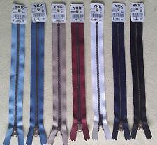 YKK Reißverschluss Metall 12 - 22 cm lang viele Farben Hosenreißverschluss