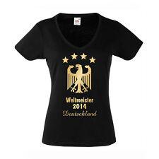 DEUTSCHLAND T-Shirt Damen WM2014 Germany Weltmeister Adler WM NEU XS-2XL