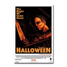 Halloween Poster Classic Horror Movie Art Silk Canvas Poster Print 32x48 inch