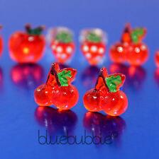 FUNKY MICRO MINI SMALL FRUIT EARRINGS FUN KITSCH CUTE KAWAII RETRO GIRLS STYLE