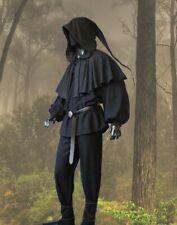 Gothic Mittelalter LARP Hemd + Gugel + Hose Gewand komplettes Outfit M L XL XXL