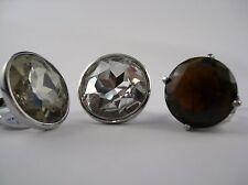 Glitzernder großer geschliffener Glasstein Ring über 29 carat