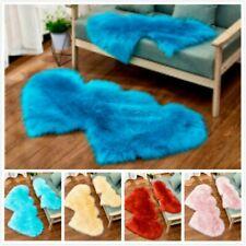 Imitation Wool Carpet Double Heart Fluffy Plush Rugs Blanket Mat Home Decor