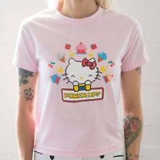 BAIT x Sanrio Hello Kitty x Pac-Man Women Power Up Tee pink