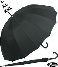 Regenschirm sturmsicher Voll-Fiberglas Automatik-Herren-Schirm stabil groß L-XXL