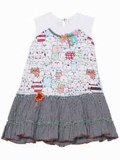 Deux Par Deux Little Girls Jersey Dress Size 5, 6 Sleeveless Cat Print NWT