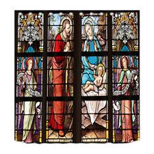 Shower Curtain Liner Bathroom Waterproof Fabric Nativity of Jesus Church Window