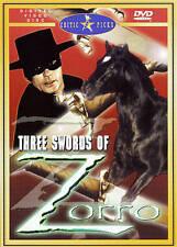 Three Swords of Zorro (DVD, 2000)
