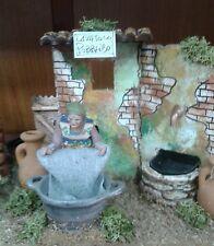 Lavatoio pubblico pastore in movimento 10 cm  presepe crib Shepherd
