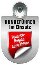 Alu Einsatzschild fuer Windschutzscheibe Schild Hundefuehrer im Einsatz 309381