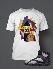 "T Shirt to match  AIR JORDAN 7 RETRO ""BORDEAUX  Pro Club t Sizes S-7XL White"