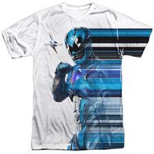 Power Rangers Movie Blue Streak Sublimation Licensed Adult T-Shirt