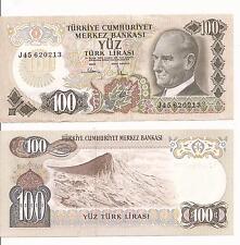 100 turkish lira note AU -EUROPE TURKEY 1970 WORLD MONEY NICE CURRENCY