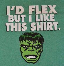 MARVEL Comics Incredible Hulk Active Fabric T-Shirt Tee Licensed Polyester GYM