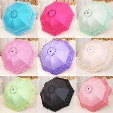 Sun/Rain Pagoda Umbrella Lace Lacework 3 Folding Anti UV Princess Bridal Wedding