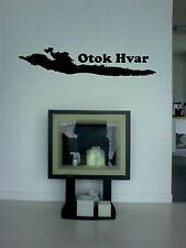 Wandtattoo Insel Hvar, Kroatien, aus Wandfolie  geschnitten, wallart