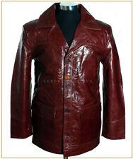 Fight Club Burgundy Men's Smart Real Cowhide Leather Movie Film Blazer Jacket