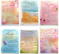 In Loving Memory Plastic Graveside Memorial Bereavement Card Family And Friends