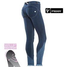 Freddy WRUP Jeans Skinny WRUP1RJ08E J0/Y con fondo svasato in denim sfrangiato