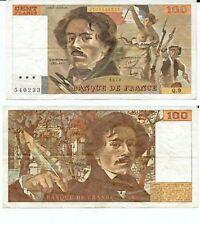 100 FRANCS DELACROIX de 1978  Q. 9