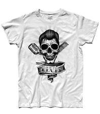 T-shirt uomo ELVIS PRESLEY skull teschio Rock the King Souspicious Mind