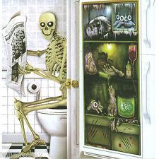 Halloween PORTA POSTER HORROR Banner Decorazione GHOST WC FRIGO SPOOKY COVER