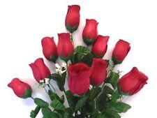 "Rose Bud Bush 12 Artificial Silk Flowers 20"" Bouquet 3974"