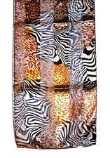 SCARF Brown & Gray & Black & Gold & Tan & Pink Cheetah Spots WILD ANIMAL PRINT