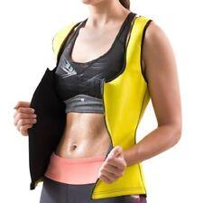 Gilet de sport femme sudation sauna néoprène jaune , accessoire sport minceur
